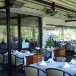 Террасный излучатель terrasSchwank на террасе ресторана.